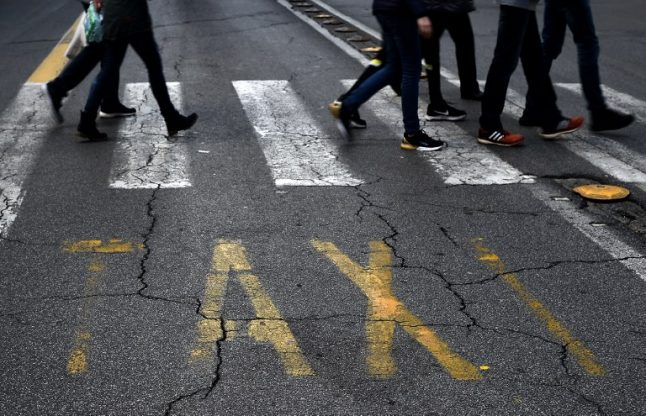 Italy's taxi drivers on strike nationwide