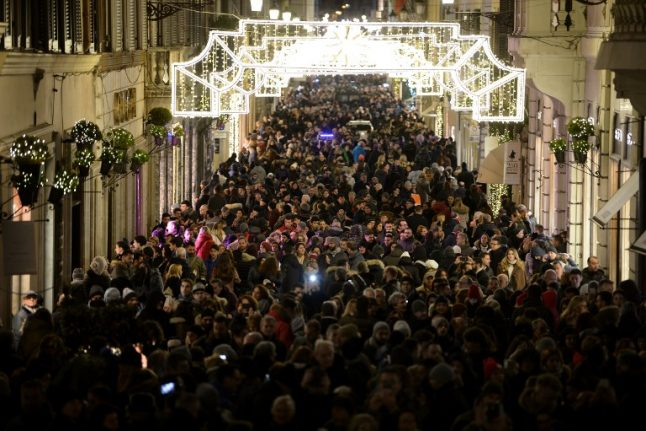 Italy steps up security for Christmas and New Year's crowds