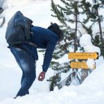 On the frozen mountain migrant trail from Italy to France