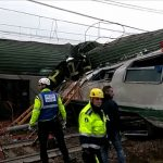 In pictures: Rescue effort and aftermath of train derailment near Milan
