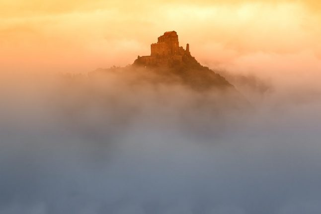 Fire at Sacra di San Michele, abbey that inspired The Name of the Rose