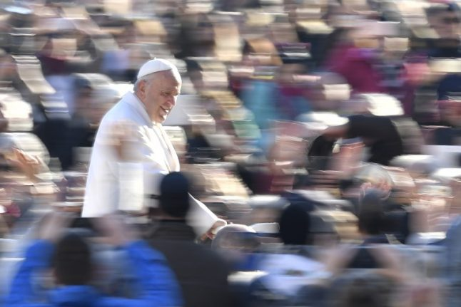 Pope on a bike! Francis given customized racing bicycle