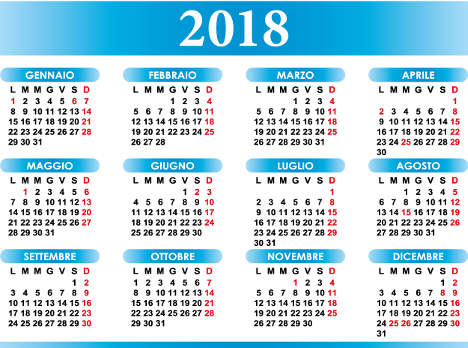 Italy's national holidays in 2018