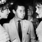 With Elizabeth Taylor and an unidentified man in Moscow.Photo: MTI/AFP