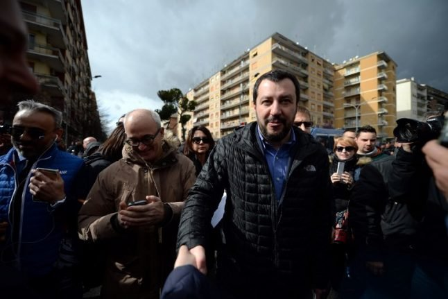 Italy's former Northern League hunts votes in the south