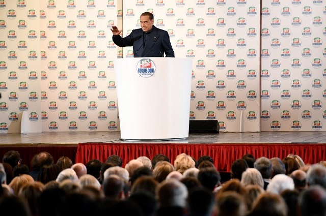 'He's blessed by the gods': Inside a campaign event with Berlusconi's supporters