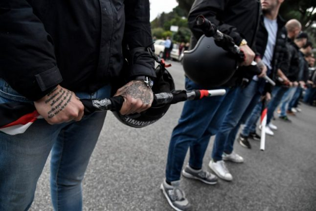 Italian far-right parties met with antifascist protests in Venice, Naples, Bologna