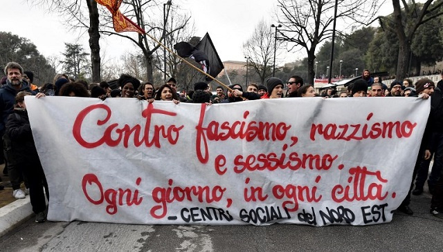 IN PICTURES: Thousands of Italians march against racist and sexist violence