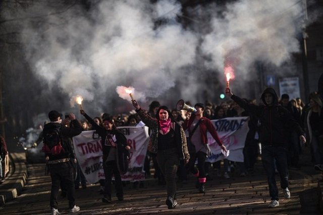 IN PICTURES: Italian women stage nationwide protests for equal rights