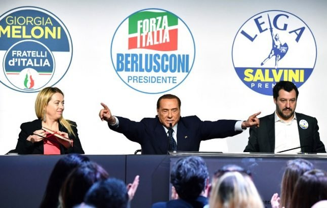 Italy's centre-right coalition in rare public display of unity