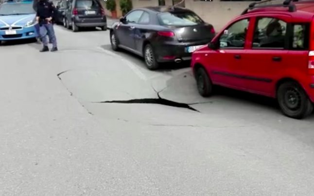 VIDEO: Watch the moment one of Rome's monster sinkholes opens