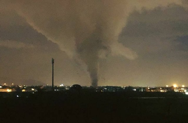 Eight injured after powerful tornado in southern Italy