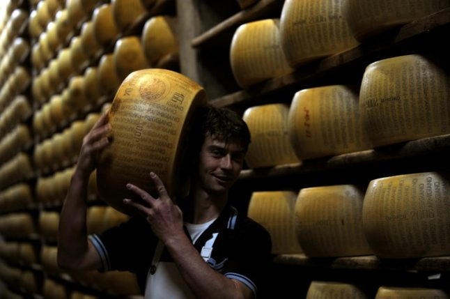 Gratest year ever for makers of Italy's parmesan cheese