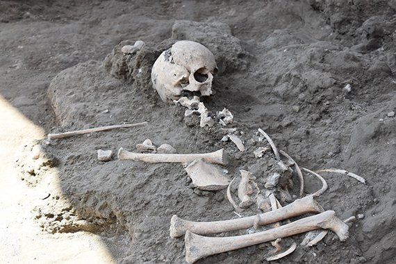 'Exceptional discovery' at Pompeii: child's skeleton unearthed