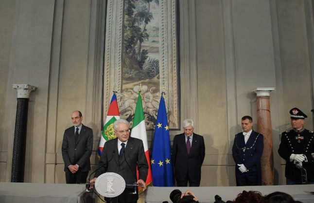 Italy's president calls for 'urgent' solution to political stalemate