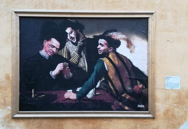 The Cardsharps: Italy's political rivals depicted as Caravaggio's cheats