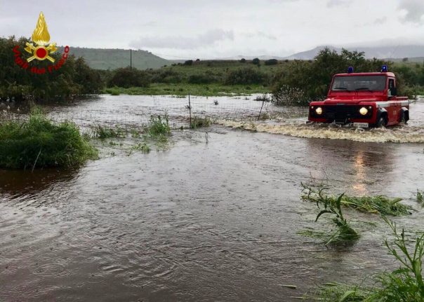 Sardinia got a quarter of its annual rainfall in the past 48 hours