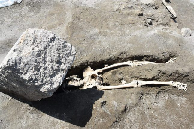 Archaeologists uncover remains of Pompeii victim 'decapitated while trying to flee'
