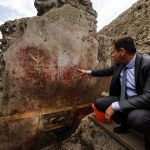 IN PICTURES: Spectacular house with colourful animal frescoes discovered in Pompeii