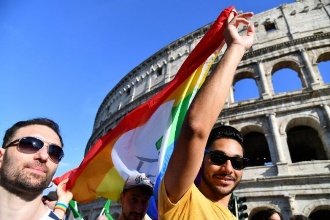 Rainbow flags fly across Europe at Gay Pride parades