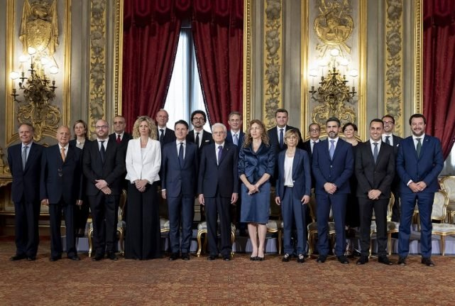 Here is Italy's new cabinet in full