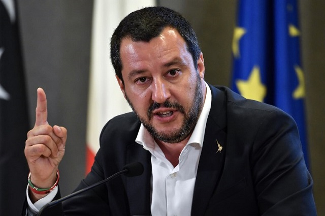 Salvini vows to end all migrant arrivals to Italy by boat