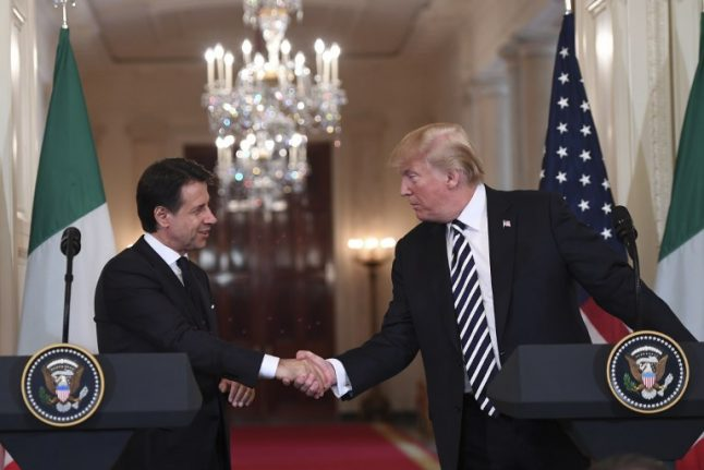 Five key points from Italian PM Conte's meeting with Donald Trump