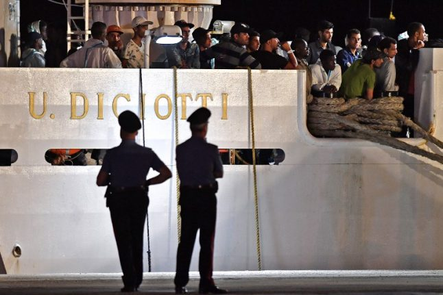 Italian coast guard ship to arrive in Sicily with 67 migrants aboard