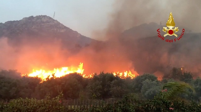 Sardinia on alert for forest fires after deadly summer across Europe