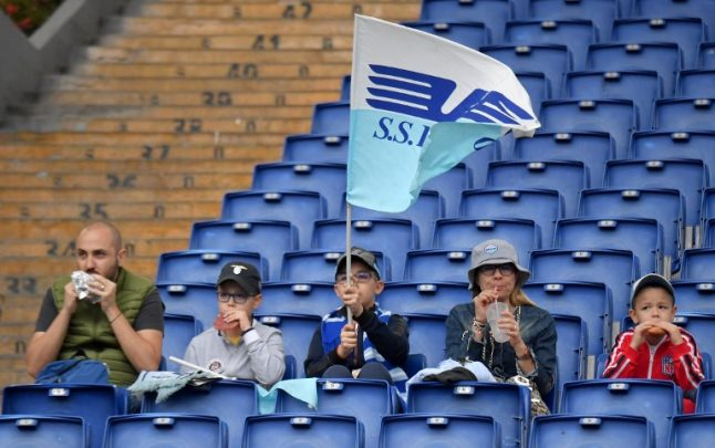 Anger as Lazio fans call to ban women from front rows of football stadium