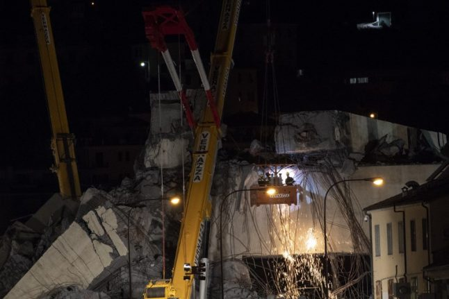 Search for survivors goes on as anger mounts over Italy bridge collapse