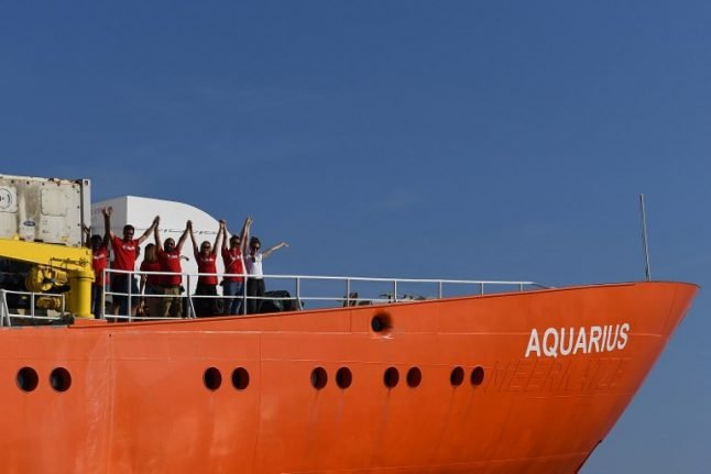 Spain, Portugal to take in most of Aquarius migrants