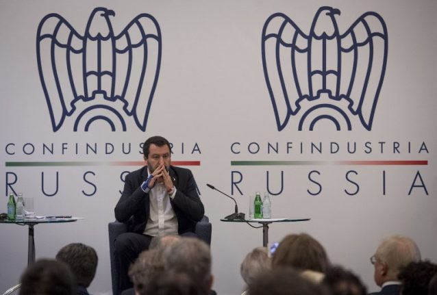 In Moscow, Italy's Matteo Salvini calls Russia sanctions 'madness'