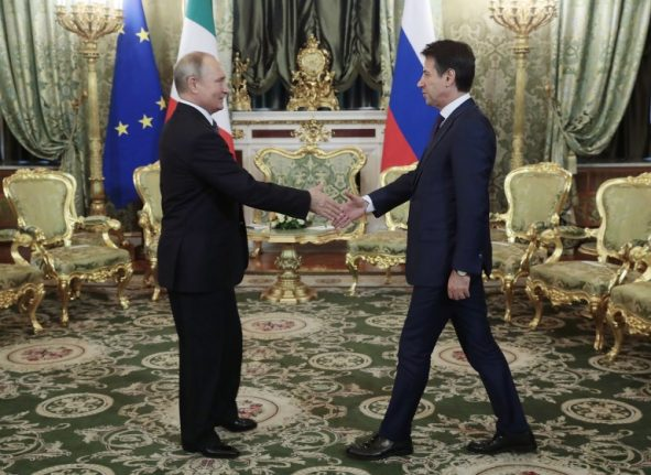 Our economy is 'strong', Italian PM tells Russia