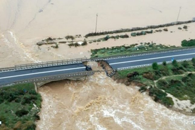 One dead in Sardinia as storms batter western Italy