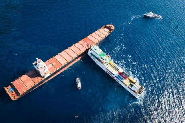 Italy and France race to clean up oil spill after cargo ships collide off Corsica