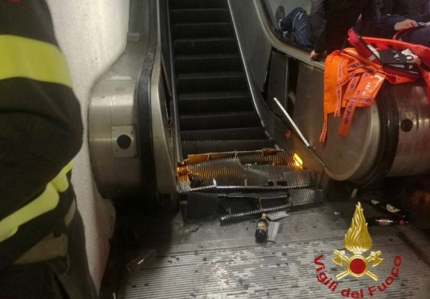 More than 20 injured in Rome escalator collapse
