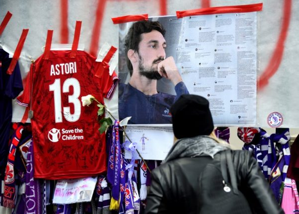 Two Italian doctors being investigated over footballer Astori's death