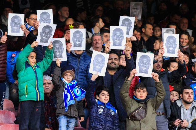 'We are all Koulibaly': Napoli fans don masks to support racism victim