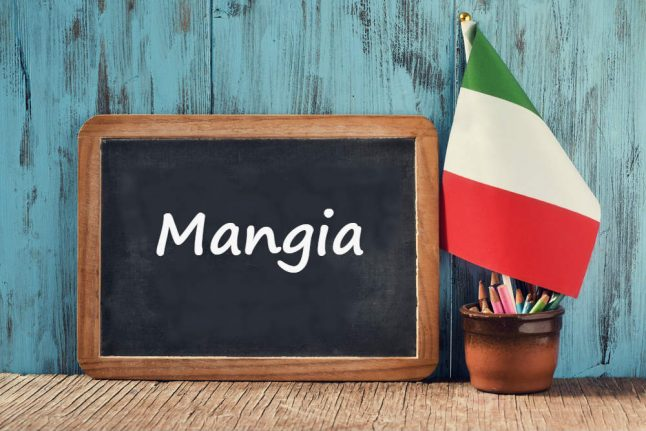 Italian word of the day: 'Mangia'