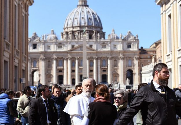 PHOTOS: Double takes in Rome as John Malkovich plays pope