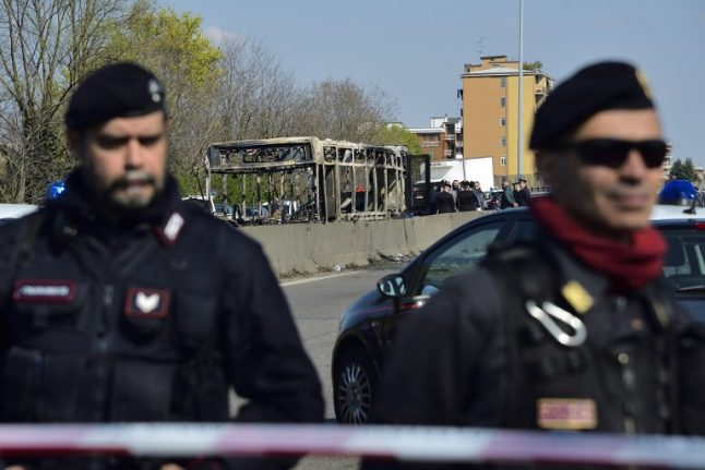 Driver sets Italian school bus on fire with 51 children inside