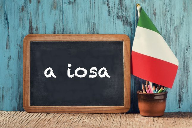 Italian expression of the day: 'A iosa'