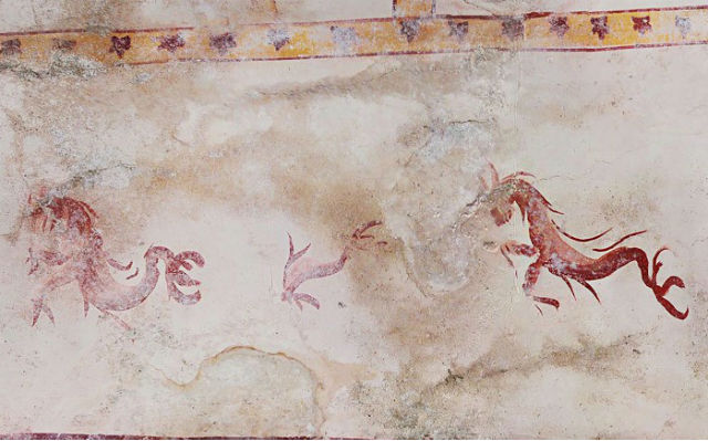 'Secret chamber' with Roman frescos found at Nero's palace