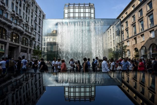 'I didn't think it was forbidden in Italy': Tourist caught skinny-dipping in Milan fountain