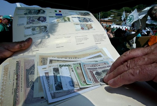 The lira is still being used in Italy - by the mafia