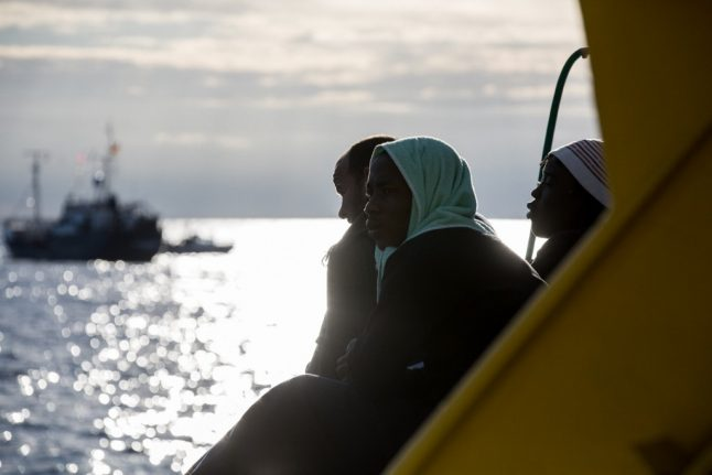 More than 40 migrants left in limbo on rescue boat off Italy