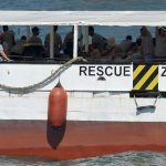 Unrest among migrants on rescue ship stranded off Italian coast