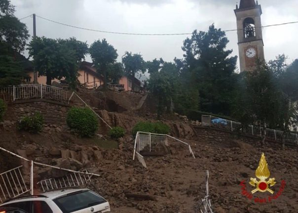 Dozens evacuated as summer storms lash northern Italy