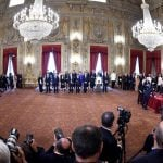 Italy swears in its new pro-European coalition government